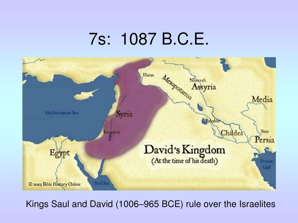 7s:  1087 B.C.E.