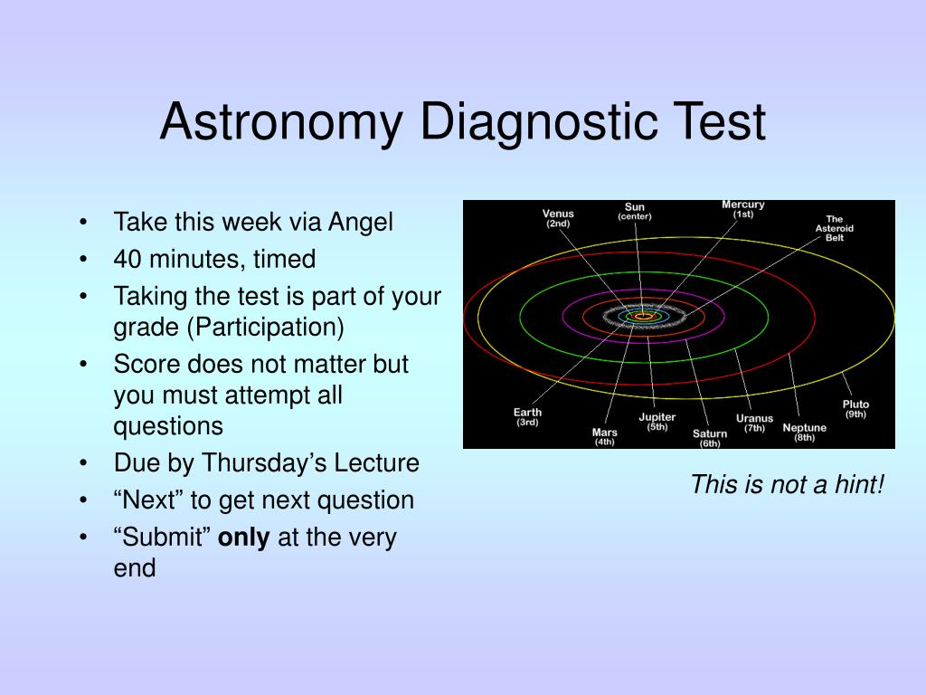 Astronomy Diagnostic Test