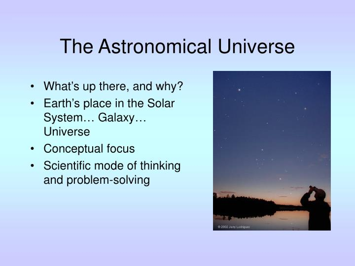 The astronomical universe l.jpg