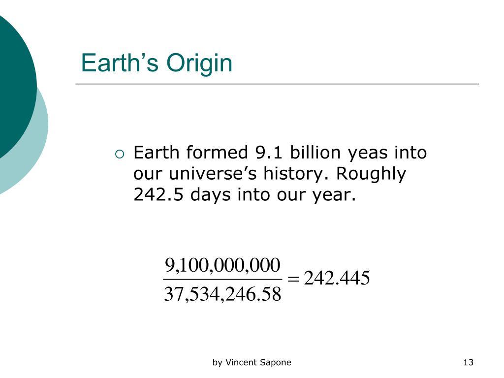 Earth's Origin