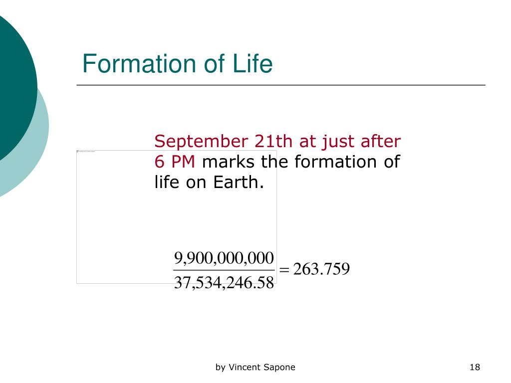 Formation of Life