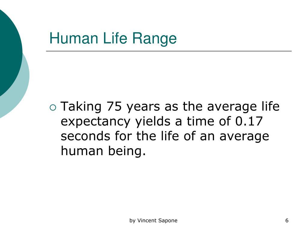 Human Life Range