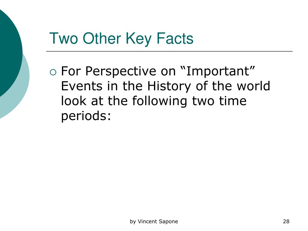 Two Other Key Facts