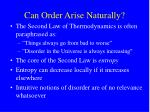 can order arise naturally