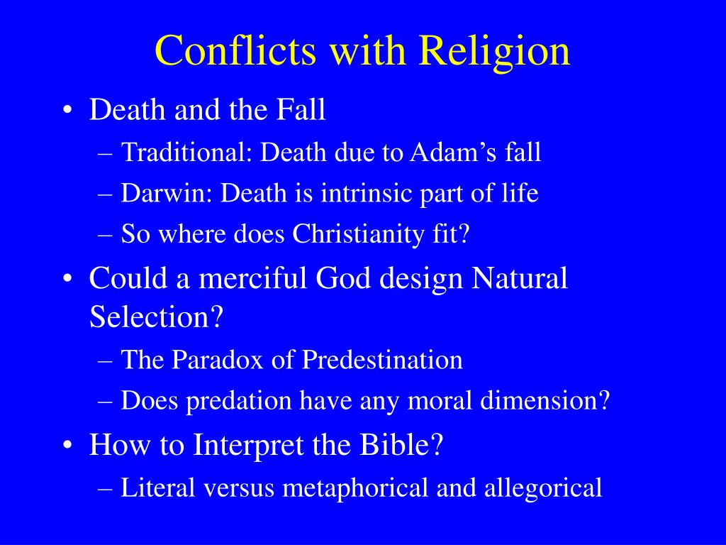 Conflicts with Religion