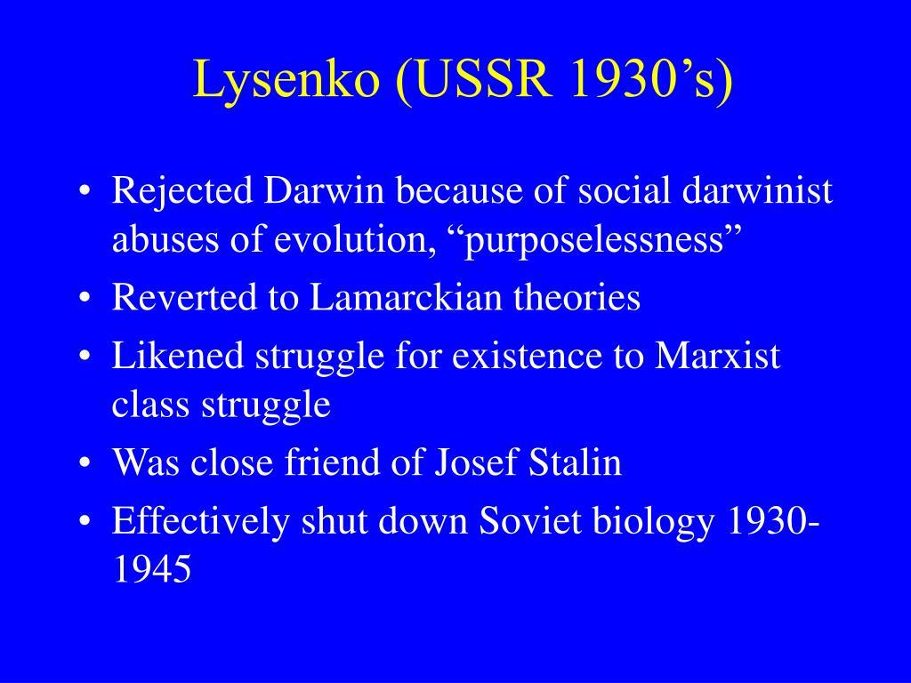 Lysenko (USSR 1930's)