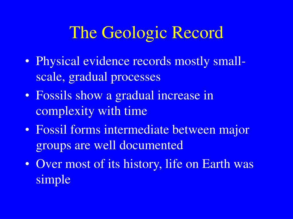 The Geologic Record