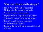 why was darwin on the beagle