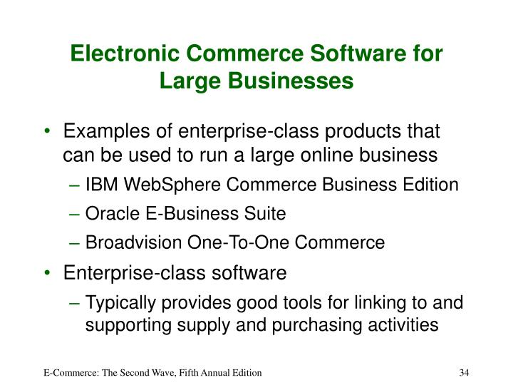 Electronic Commerce Software for Large Businesses