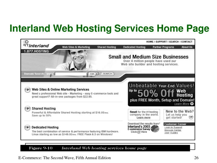 Interland Web Hosting Services Home Page