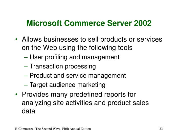Microsoft Commerce Server 2002