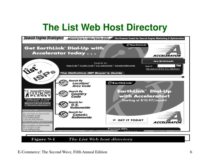 The List Web Host Directory