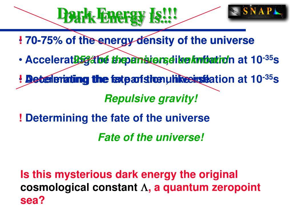 Dark Energy Is...