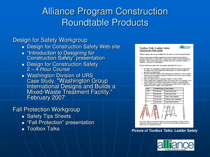 Alliance Program Construction
