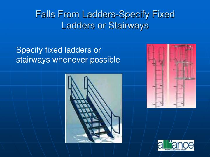 Falls From Ladders-Specify Fixed