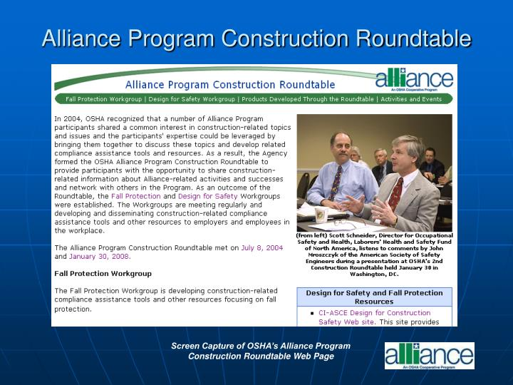 Alliance Program Construction Roundtable