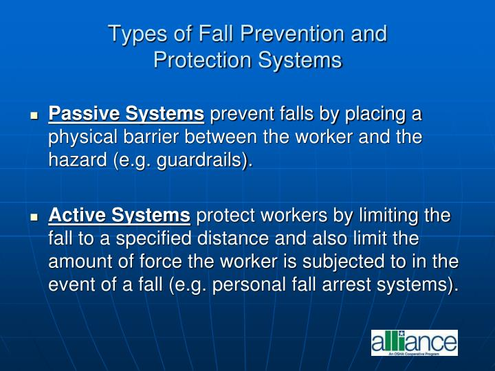 Types of Fall Prevention and