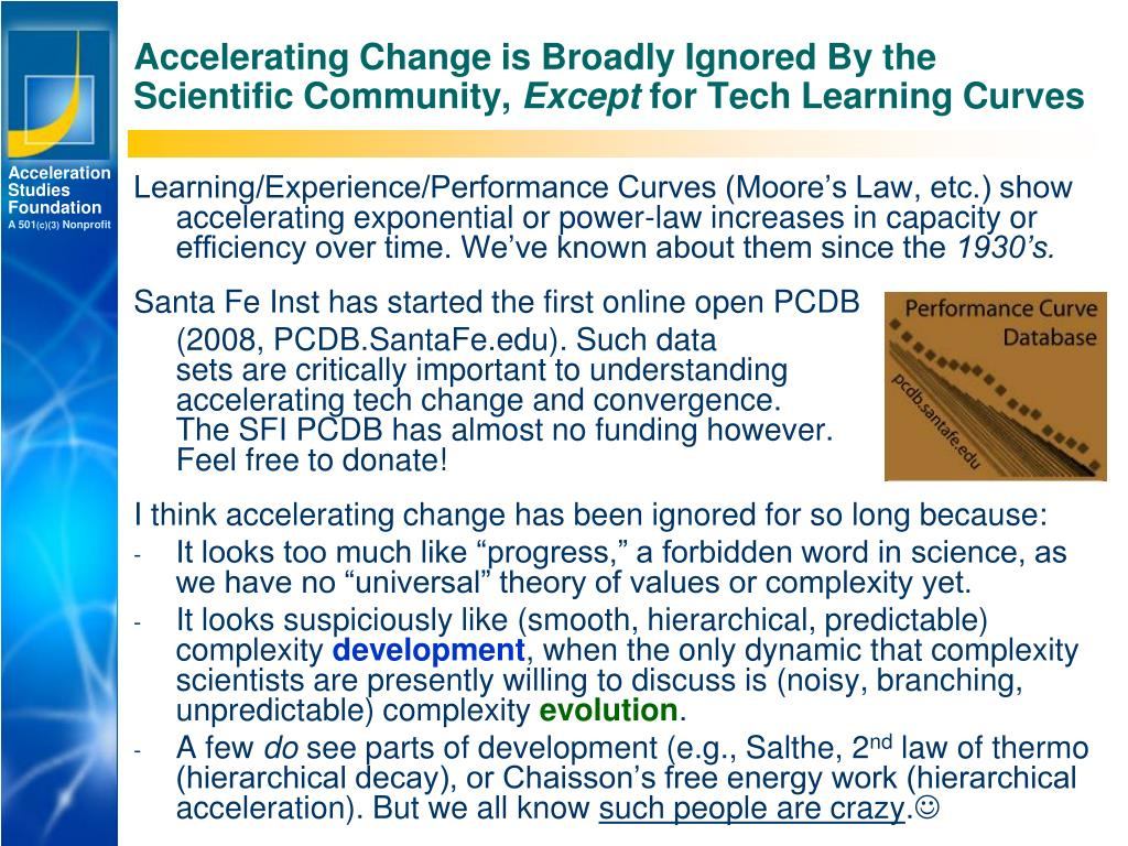 Accelerating Change is Broadly Ignored By the