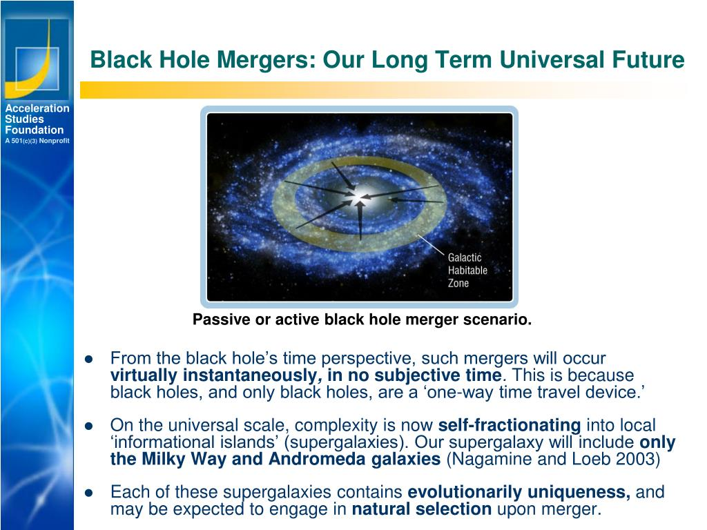 Black Hole Mergers: Our Long Term Universal Future