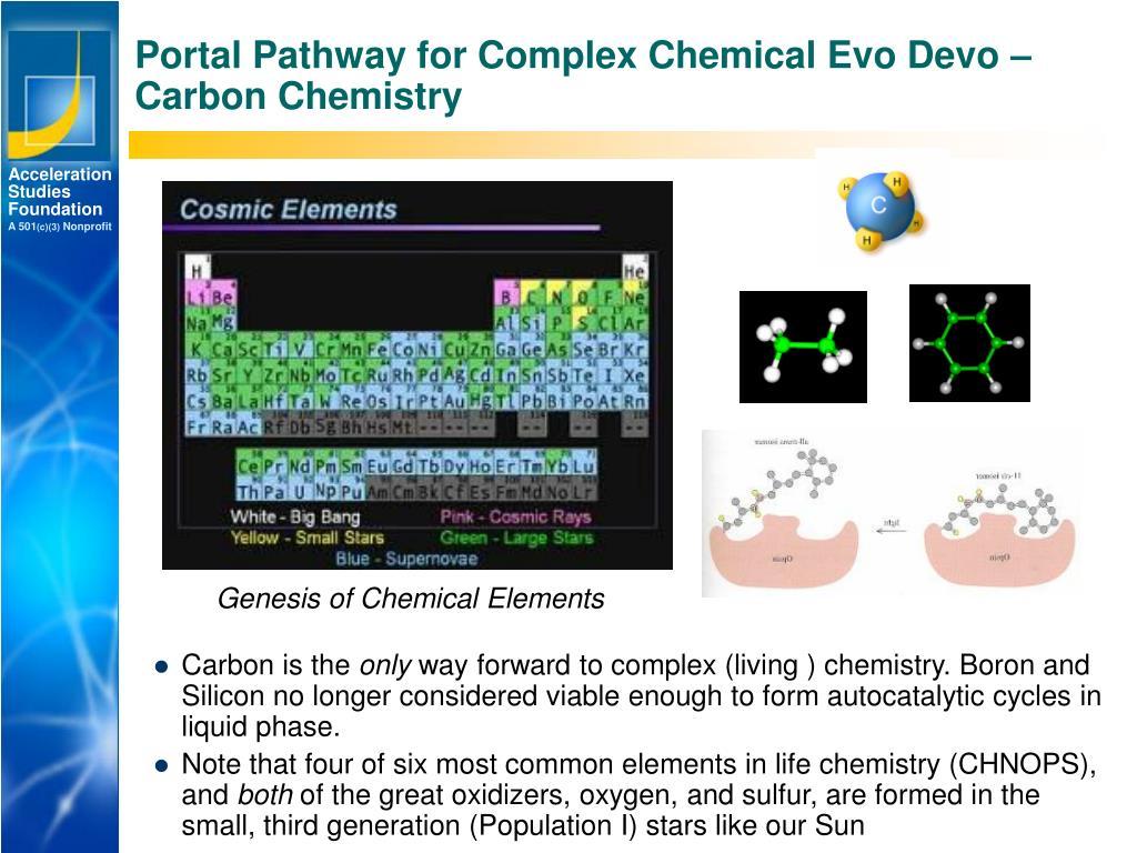 Portal Pathway for Complex Chemical Evo Devo –