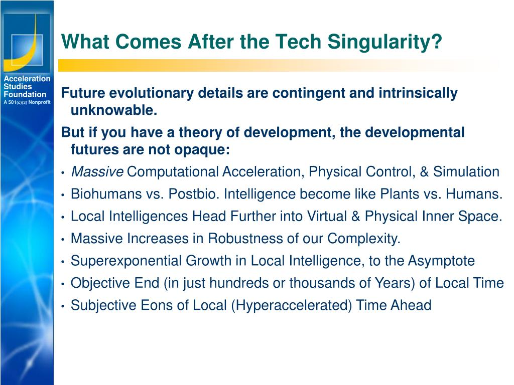 What Comes After the Tech Singularity?