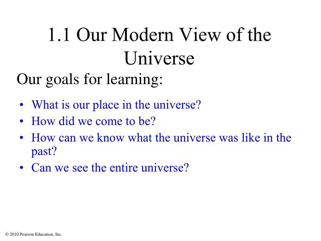 1.1 Our Modern View of the Universe