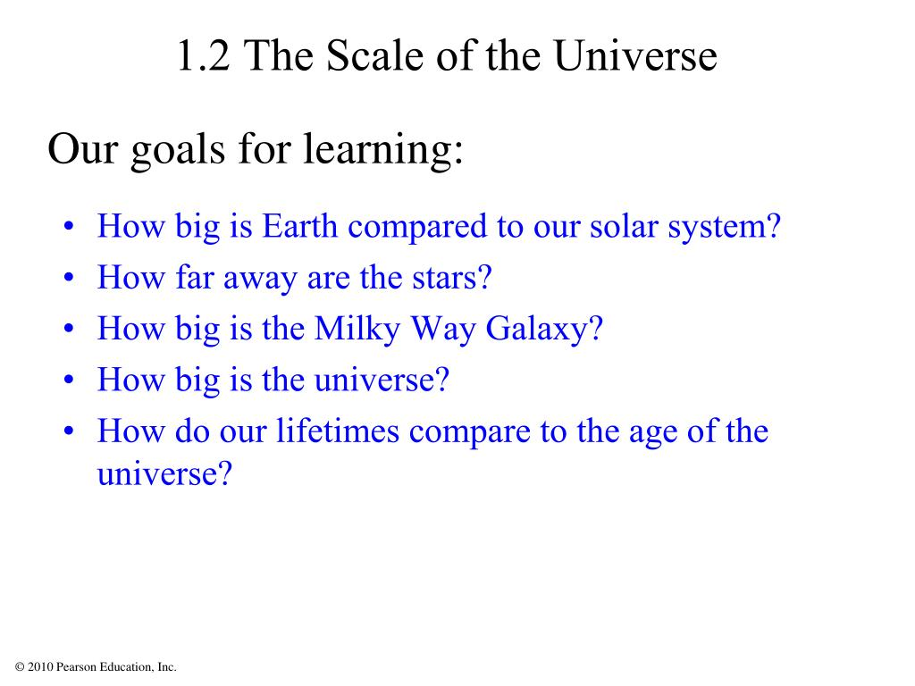 1.2 The Scale of the Universe