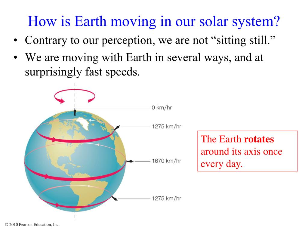 How is Earth moving in our solar system?