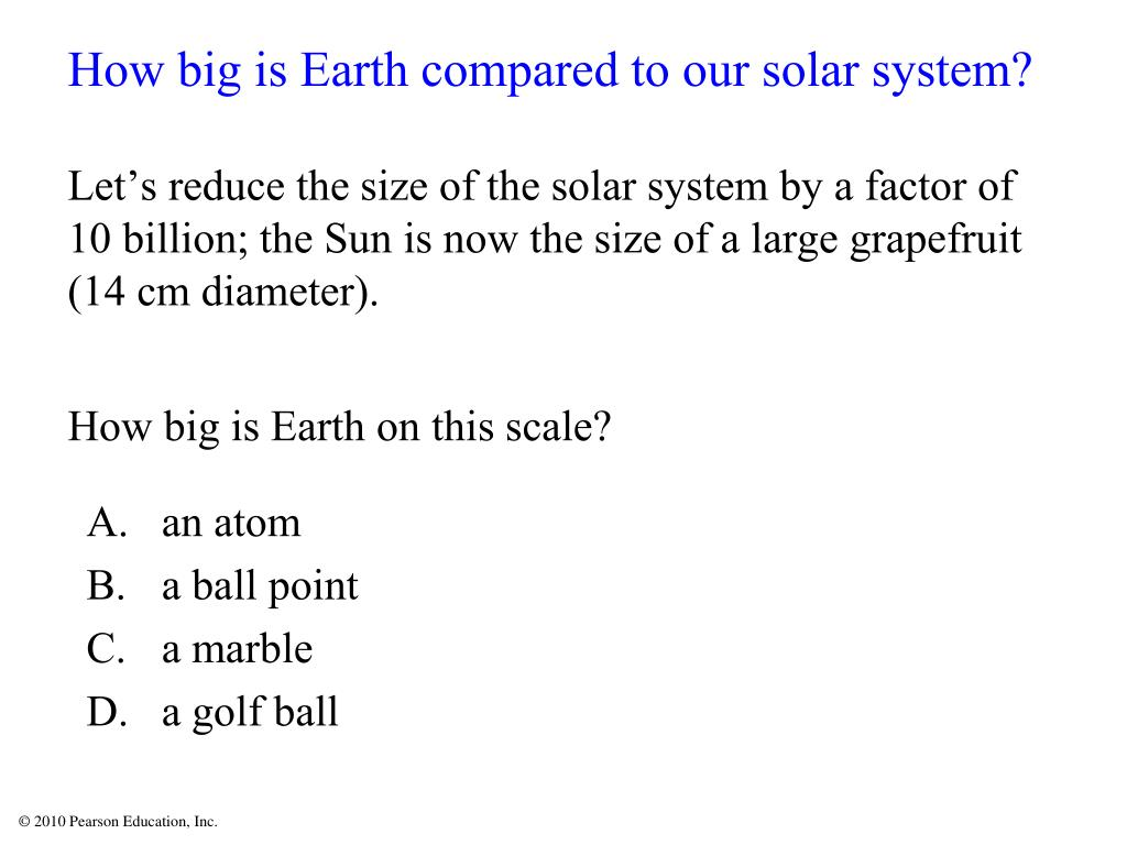 How big is Earth compared to our solar system?