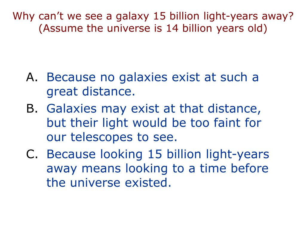 Why can't we see a galaxy 15 billion light-years away?