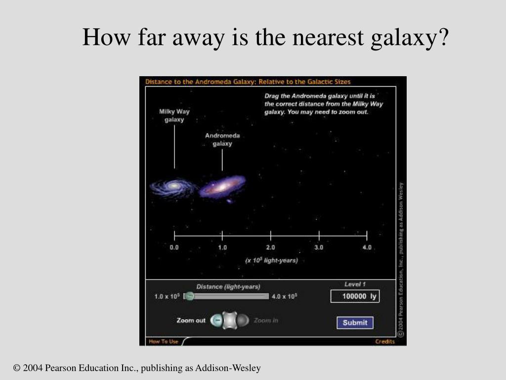 How far away is the nearest galaxy?