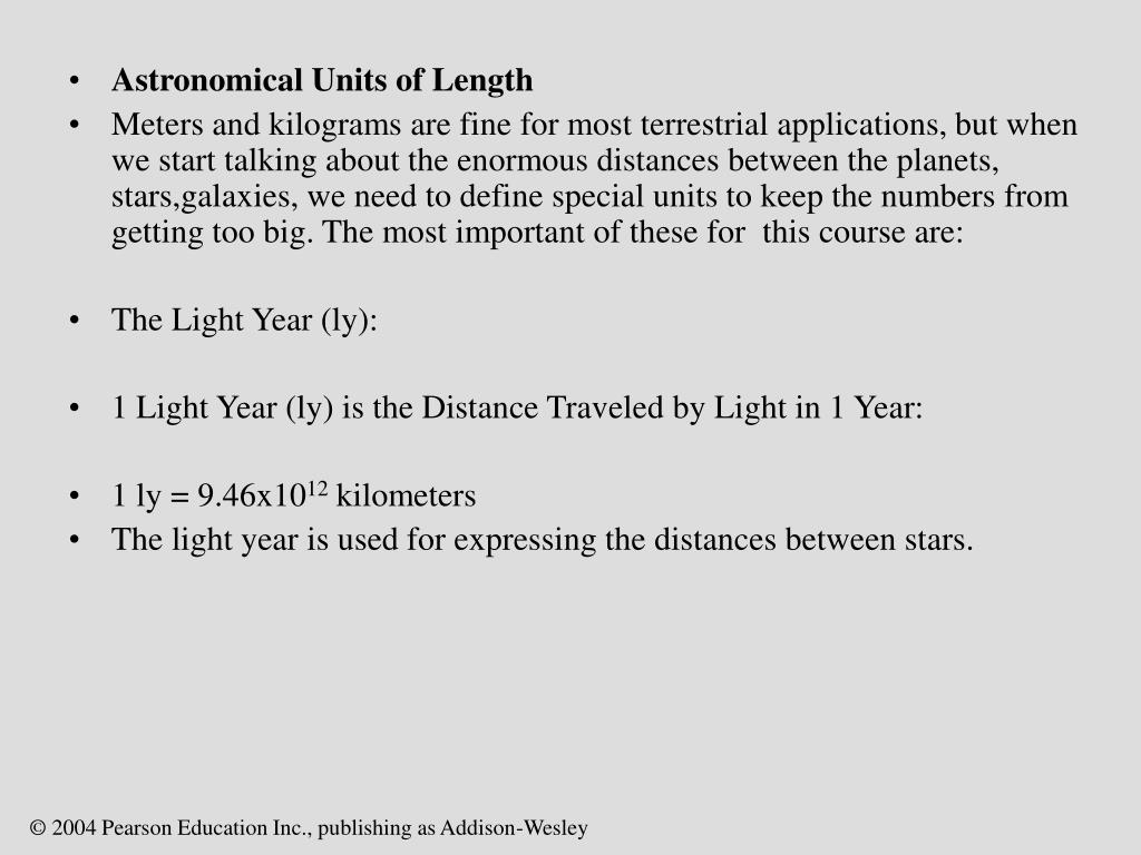 Astronomical Units of Length