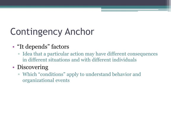 Contingency Anchor