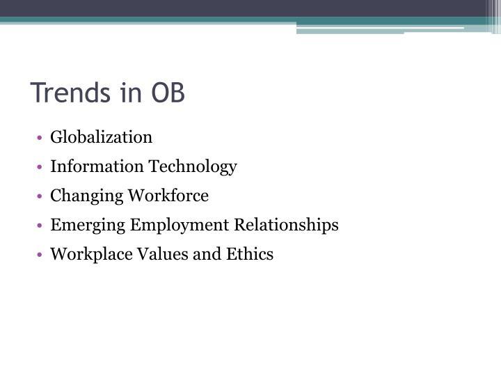 Trends in OB