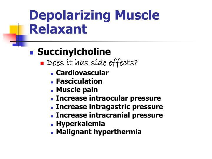 Depolarizing Muscle Relaxant