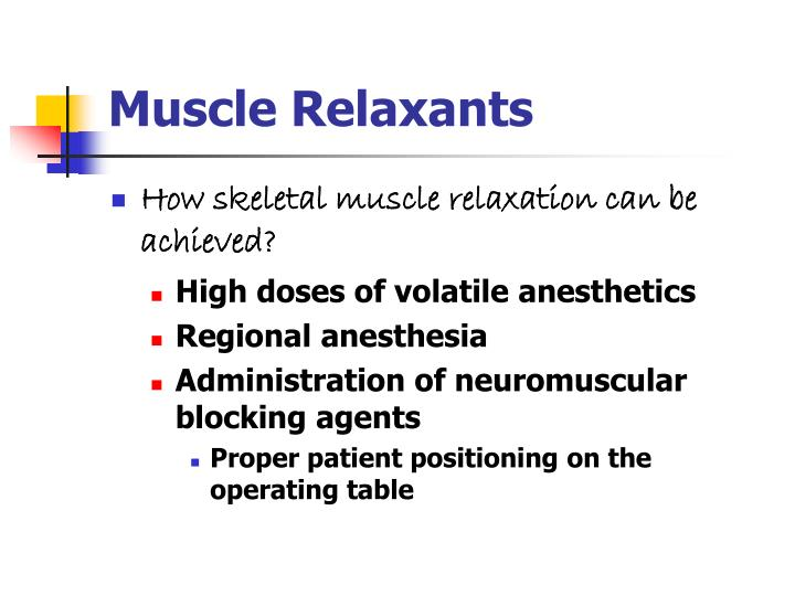 Muscle relaxants2