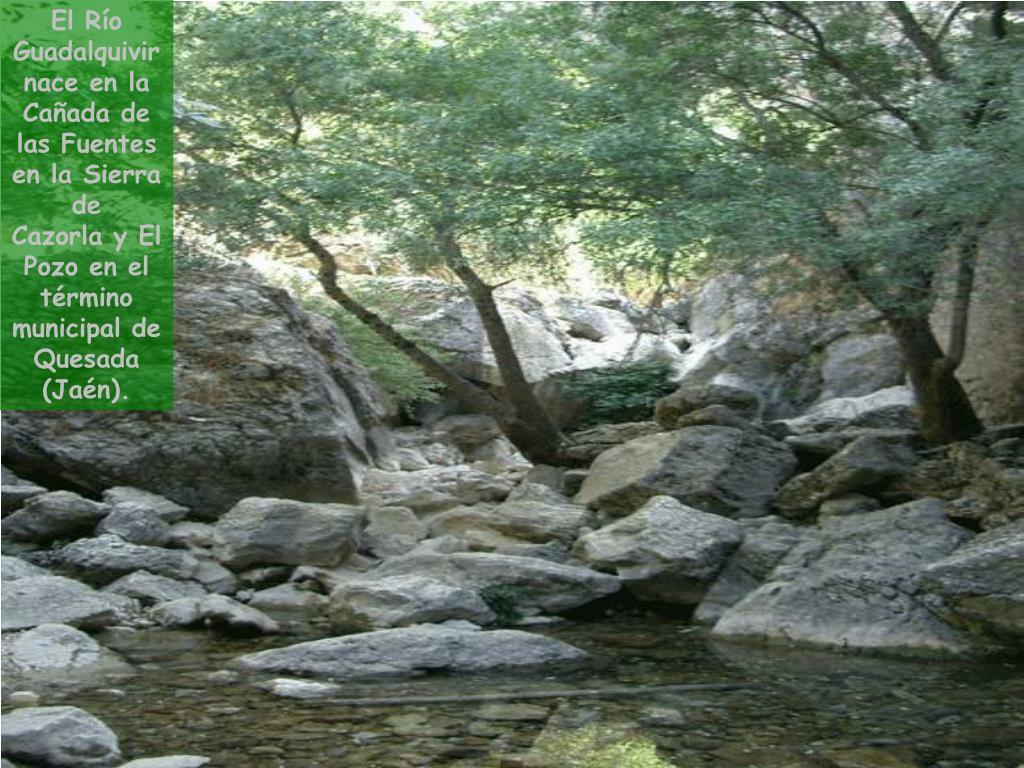 El Río Guadalquivir nace en la Cañada de las Fuentes en la Sierra de