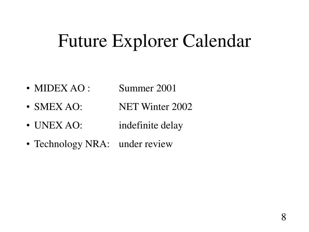 Future Explorer Calendar