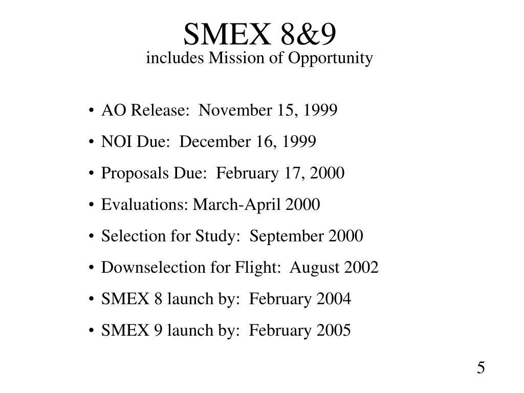 SMEX 8&9