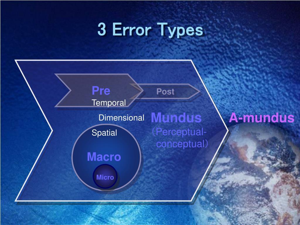 3 Error Types