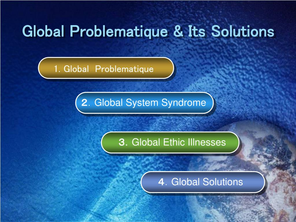 Global Problematique & Its Solutions
