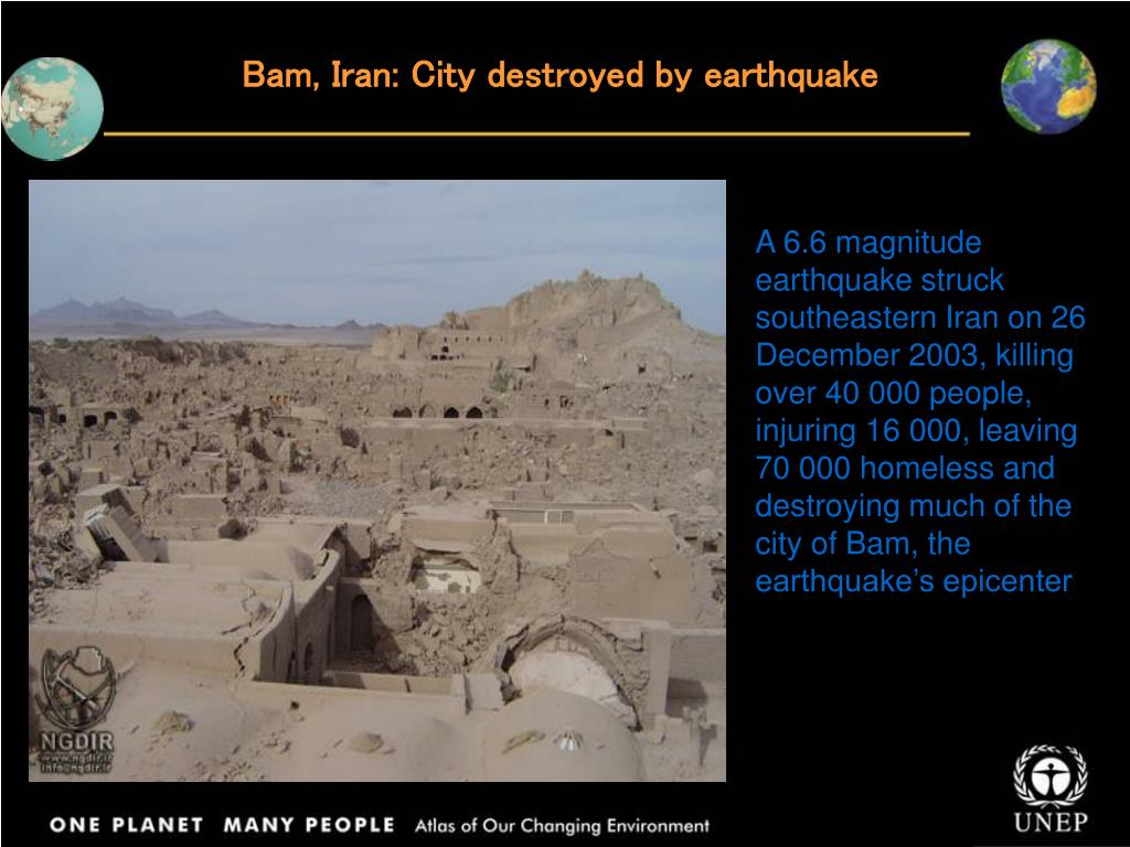 Bam, Iran: City destroyed by earthquake