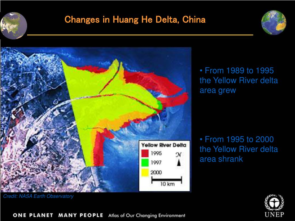 Changes in Huang He Delta, China