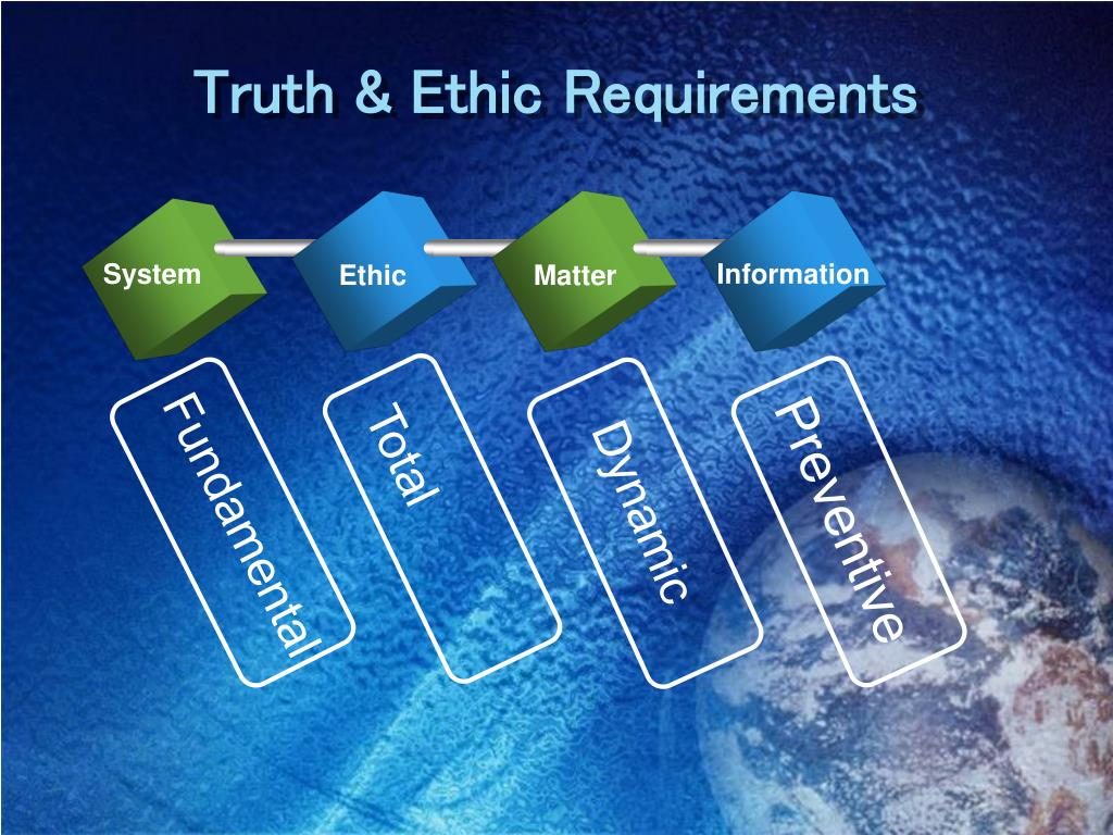 Truth & Ethic Requirements