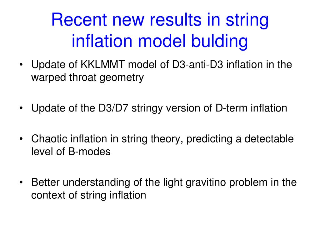 Recent new results in string inflation model bulding