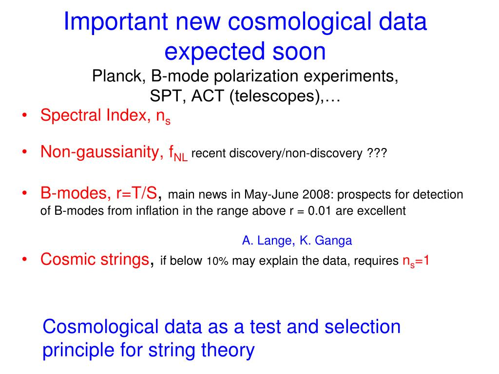 Important new cosmological data expected soon