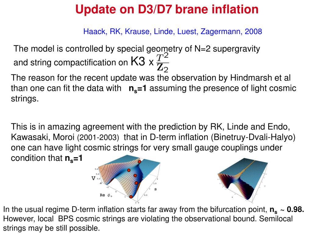 Update on D3/D7
