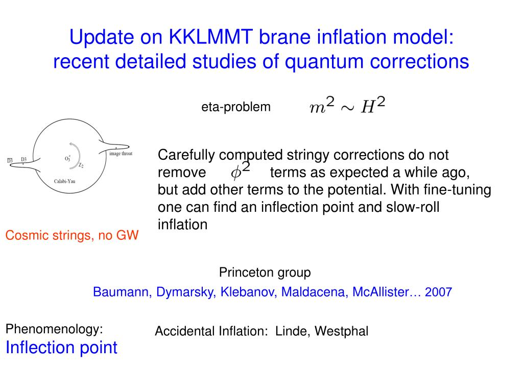 Update on KKLMMT brane inflation model: