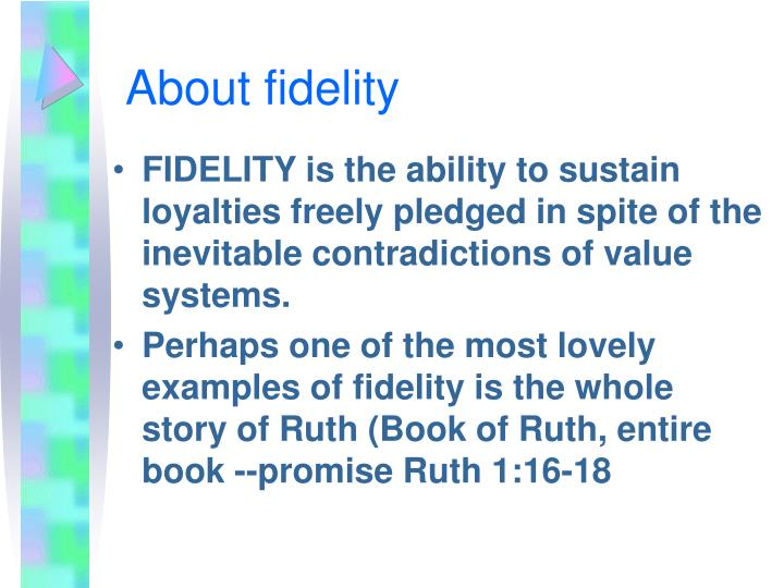 Fidelity Definition
