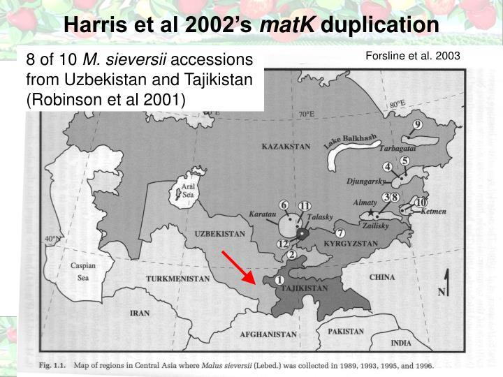 Harris et al 2002's